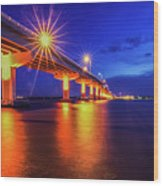 Light Bridge Wood Print