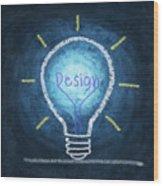 Light Bulb Design Wood Print