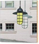 Light Bulb Mural Wood Print