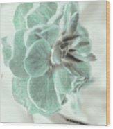 Light Green Blossom Wood Print