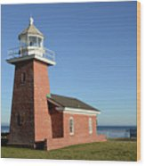 Light House At Santa Cruz Wood Print