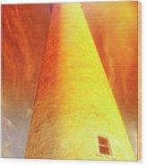 Light House At Sunset, Cape May, Nj Wood Print
