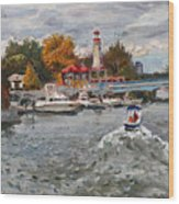 Light House Mississauga Wood Print