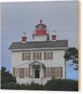 Light House On The Oregon Coast Wood Print