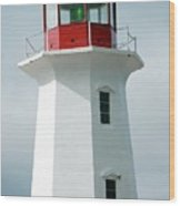 Light House Peggy's Cove Wood Print