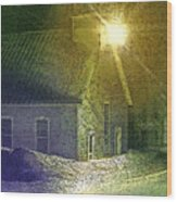 Light In The Night Wood Print