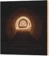 Light In The Tunnel 5 Wood Print