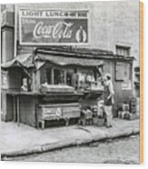Light Lunch - Hot Dogs - Coca Cola Wood Print