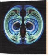 Light Mask Wood Print