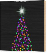 Light Of The World Christmas Card Wood Print