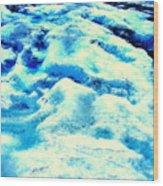 Light On Glacier Wood Print