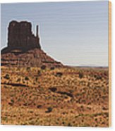 Light On Monument Valley  Wood Print