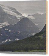 Light On Mountain Slopes Wood Print