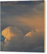 Light On The Clouds  Wood Print