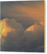 Light On The Clouds Two  Wood Print
