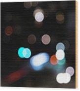 Light Orbs Wood Print