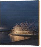 Light Painting Wood Print