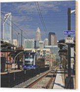 Light Rail In Charlotte Wood Print