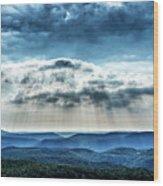 Light Rains Down Wood Print