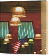 Light Reflection Nyc Canopy  Wood Print