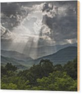 Light Show Before The Storm. Wood Print by Itai Minovitz