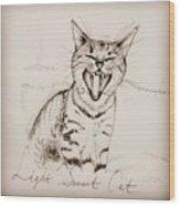 Light Sweet Cat Wood Print