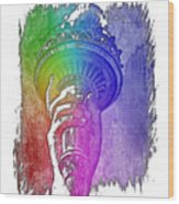 Light The Path Cool Rainbow 3 Dimensional Wood Print