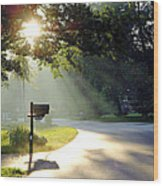 Light The Way Home Wood Print