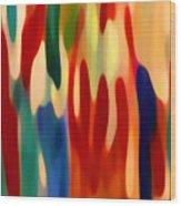 Light Through Flowers Wood Print by Amy Vangsgard