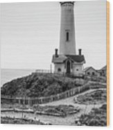 Light Tower Of The Pacific Wood Print