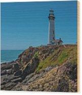 Light Tower Panoramic Wood Print