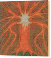 Light Tree Wood Print