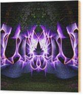 Light Wave Grafitti Wood Print