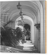 Lighted Arches Wood Print