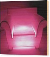 Lighted Chair 3 Wood Print
