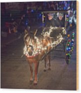 Lighted Pony Wood Print