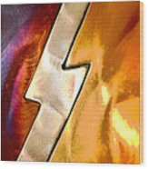 Lightening Bolt Abstract Posterized Wood Print