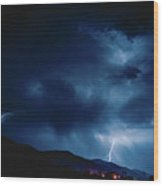 Lightening Cache Valley Utah Wood Print
