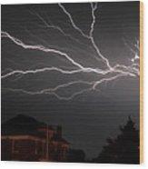 Lightening Wood Print