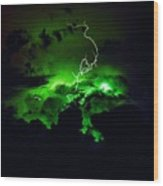 Lightening Storm  Wood Print