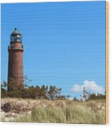 Lighthaus Darss Wood Print