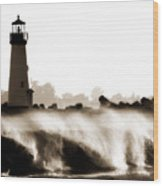 Lighthouse 3 Dreamy Wood Print