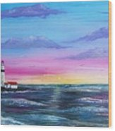 Lighthouse  5 Wood Print