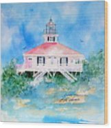 Lighthouse At Boca Grand Island Fl Wood Print