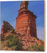 Lighthouse At Palo Duro Canyon Wood Print