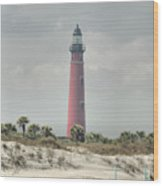 Lighthouse At Ponce Inlet Wood Print