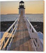 Lighthouse Boardwalk Wood Print by Benjamin Williamson