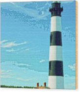 Lighthouse Bodie Island Wood Print