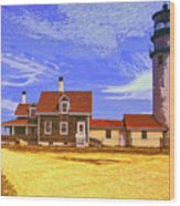 Lighthouse Cape Cod Wood Print