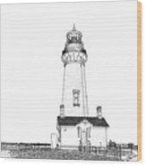 Lighthouse Computer Drawing Wood Print